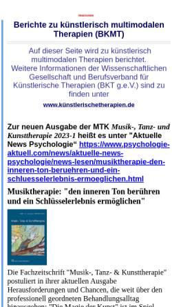 Vorschau der mobilen Webseite www.bkmt.de, Berufsverband für Kunst-, Musik- und Tanztherapie