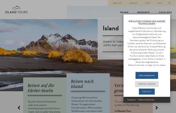 Vorschau von www.islandtours.at, Island Tours Österreich