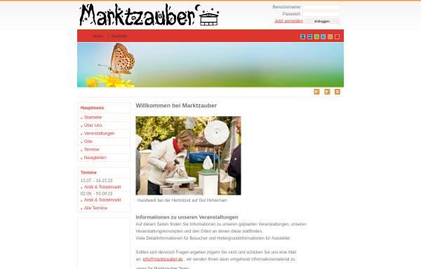 Vorschau von www.marktzauber.de, Marktzauber - more event Logistik Melany Morel