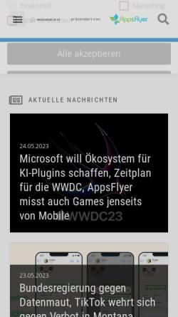 Vorschau der mobilen Webseite www.mobilbranche.de, Mobilbranche.de
