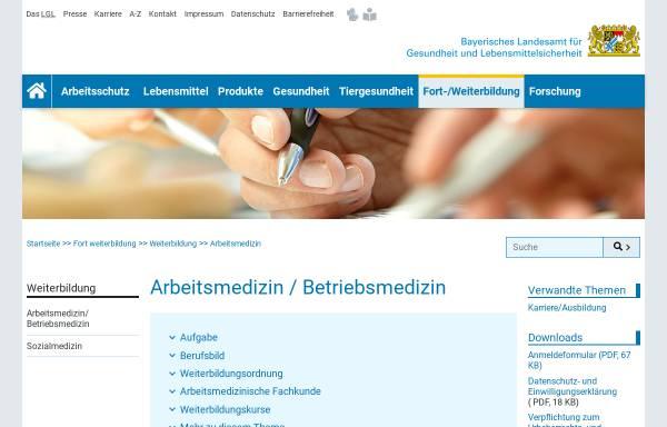 Vorschau von www.lgl.bayern.de, Asumed - Bayerische Akademie für Arbeits-, Sozial- und Umweltmedizin