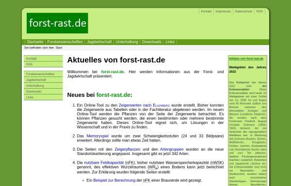 Vorschau von www.forst-rast.de, Forst-Rast.de