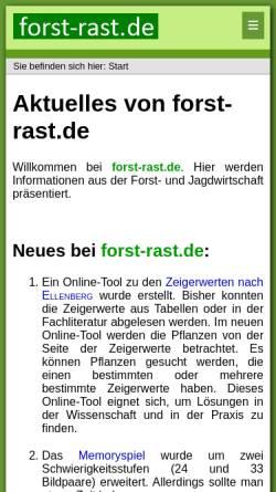 Vorschau der mobilen Webseite www.forst-rast.de, Forst-Rast.de