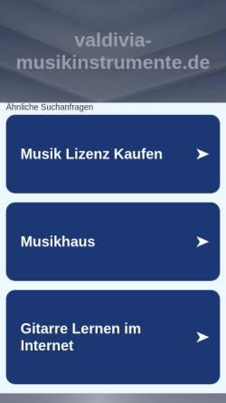 Vorschau der mobilen Webseite www.meisterinstrumentenbau.de, Meisterwerkstatt für Instrumentenbau