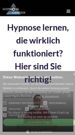 Vorschau der mobilen Webseite www.hypnosecenter.at, Hypnosecenter Dr. Werner