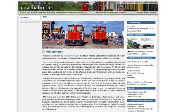 Vorschau von www.inselbahn.de, Inselbahn.de - Malte Werning