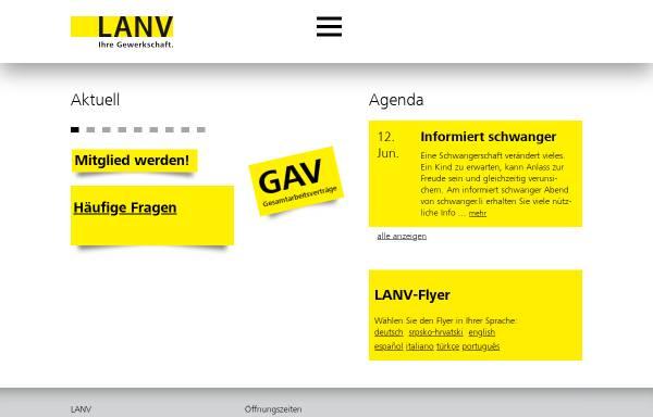 Vorschau von www.lanv.li, LANV - Liechtensteinischer ArbeitnehmerInnen Verbund