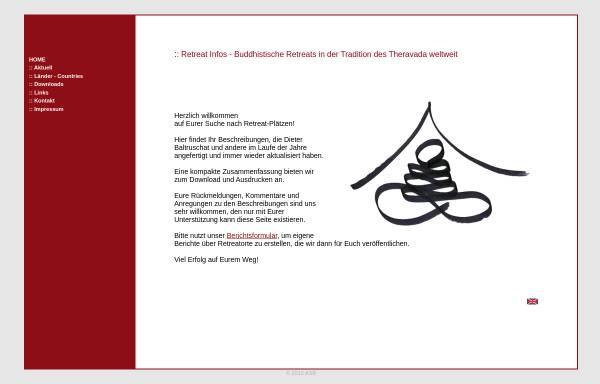 Vorschau von www.retreat-infos.de, Retreats in Asien und weltweit