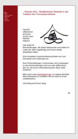 Vorschau der mobilen Webseite www.retreat-infos.de, Retreats in Asien und weltweit