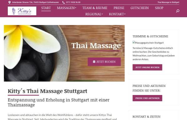 Vorschau von www.kittys-thaimassage.de, Kittys Traditionelle Thaimassage