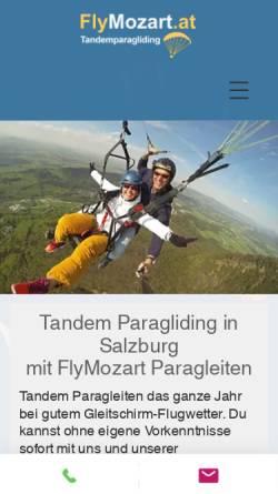 Vorschau der mobilen Webseite www.flymozart.at, FlyMozart Salzburg