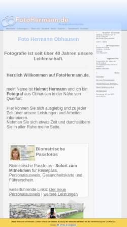 Vorschau der mobilen Webseite www.fotohermann.de, Hermann, Helmut