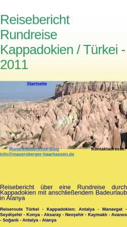 Vorschau der mobilen Webseite www.mauersberger-haarhausen.de, Rundreise Kappadokien [Familie Mauersberger]
