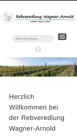 Vorschau der mobilen Webseite www.wagner-arnold.de, Rebveredlung Wagner-Arnold