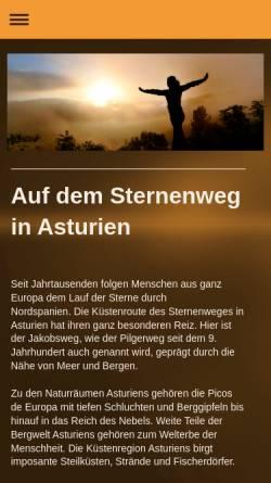 Vorschau der mobilen Webseite www.asturien.net, Asturien, das Naturparadies auf dem Sternenweg [Ralf Pochadt]