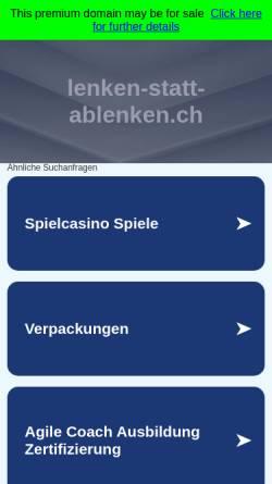 Vorschau der mobilen Webseite www.lenken-statt-ablenken.ch, Blindflug. Keine Ablenkung während der Fahrt!