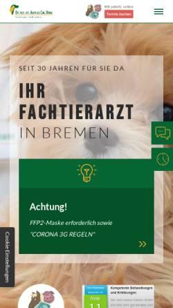 Vorschau der mobilen Webseite www.fachtierarzt24.de, Dr. med. vet. Andreas Chr. Böhm