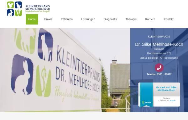 Vorschau von kleintierpraxis-bielefeld.de, Kleintierpraxis Dr. Silke Mehlhose-Koch
