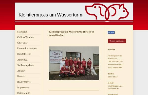 Vorschau von www.kleintierpraxis-wasserturm.de, Kleintierpraxis am Wasserturm Drs. B. und E. Gey