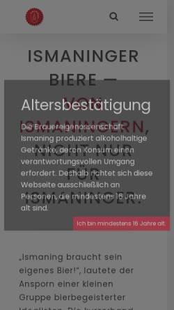 Vorschau der mobilen Webseite www.ismaninger.de, Ismaninger Nachrichten Online