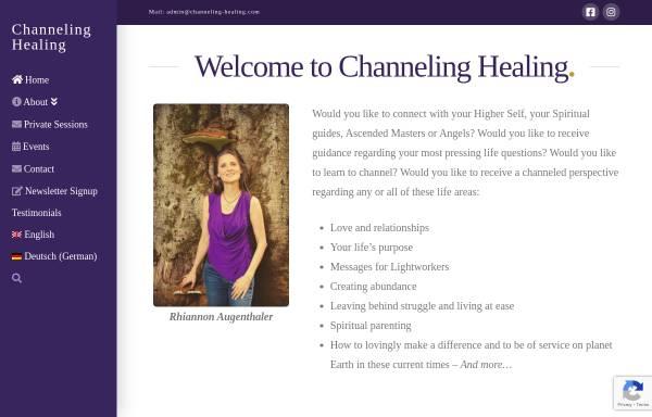 Vorschau von www.channeling-healing.com, Channeling Healing