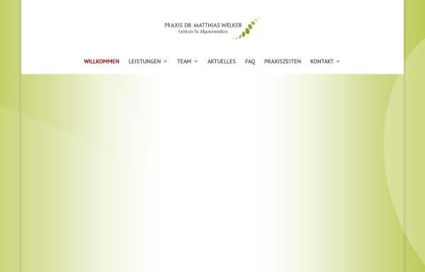 Vorschau von www.arztpraxiswelker.de, Welker, Matthias