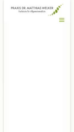 Vorschau der mobilen Webseite www.arztpraxiswelker.de, Welker, Matthias