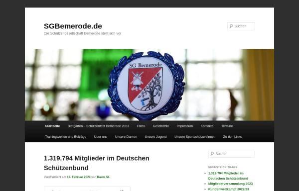 Vorschau von sgbemerode.de, Schützengesellschaft Bemerode von 1838 e.V.