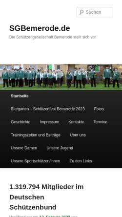 Vorschau der mobilen Webseite sgbemerode.de, Schützengesellschaft Bemerode von 1838 e.V.