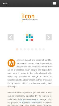 Vorschau der mobilen Webseite www.ilcon.com, Ilcon GmbH