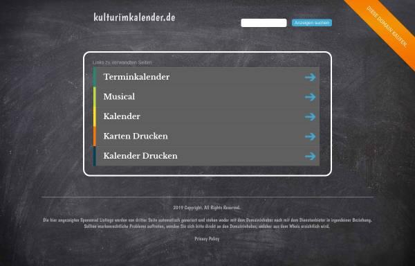 Vorschau von www.kulturimkalender.de, KULTURimKALENDER Mecklenburg-Vorpommern