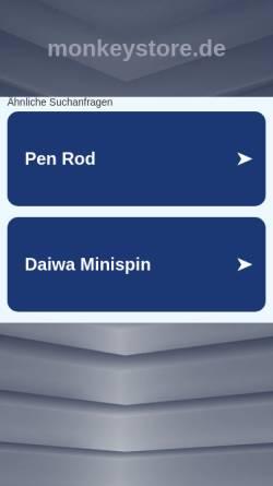 Vorschau der mobilen Webseite www.monkeystore.de, Monkeystore - Der Shop für Gadgets und originelle Geschenke