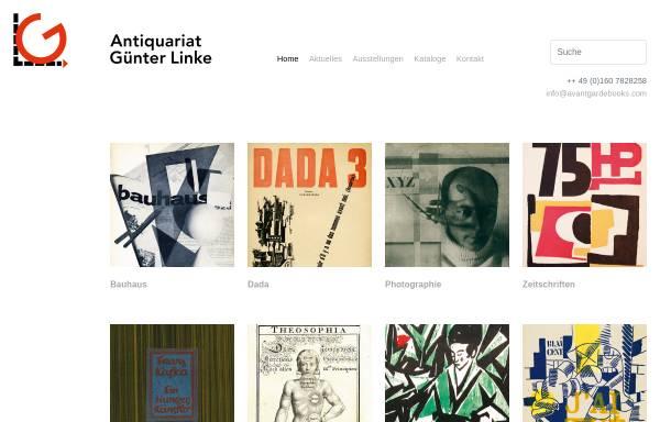 Vorschau von www.avantgardebooks.com, Antiquariat Günter Linke