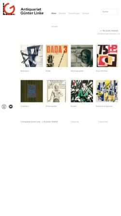 Vorschau der mobilen Webseite www.avantgardebooks.com, Antiquariat Günter Linke