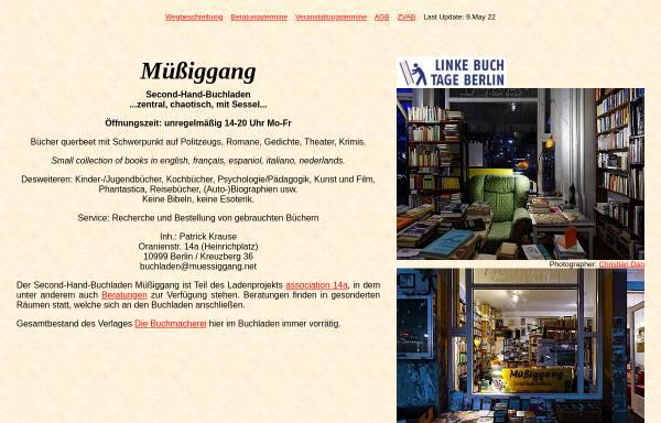 Vorschau von www.muessiggang.net, Müßiggang, Second-Hand-Buchladen