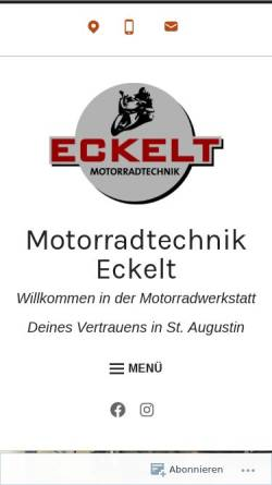 Vorschau der mobilen Webseite eckelt-motorradtechnik.com, Motorradtechnik Eckelt