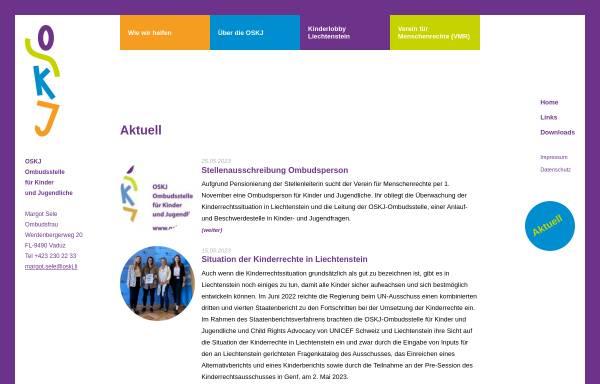 Vorschau von www.oskj.li, OSKJ - Ombudsstelle für Kinder und Jugendliche