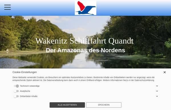 Vorschau von www.wakenitzfahrt.de, Wakenitz Schifffahrt Quandt