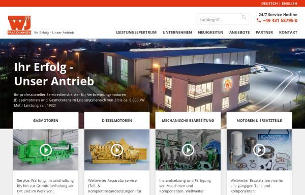 Vorschau von www.wulf-johannsen.de, Wulf Johannsen KG GmbH & Co