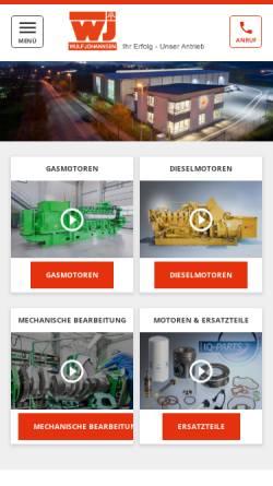 Vorschau der mobilen Webseite www.wulf-johannsen.de, Wulf Johannsen KG GmbH & Co