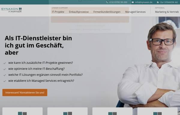 Vorschau von synaxon.de, Synaxon AG