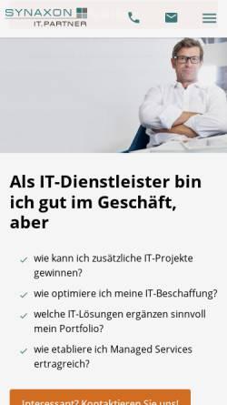 Vorschau der mobilen Webseite synaxon.de, Synaxon AG