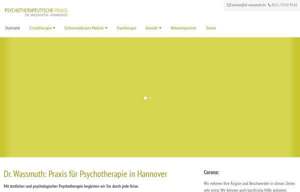 Vorschau von www.psychotherapeutische-praxis-hannover.de, Anne Harff und Dr. med. Frank Wassmuth