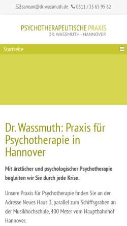 Vorschau der mobilen Webseite www.psychotherapeutische-praxis-hannover.de, Anne Harff und Dr. med. Frank Wassmuth