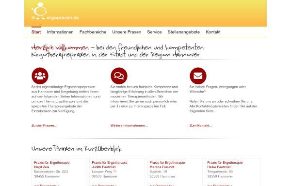 Vorschau von www.ergopraxen.de, Praxen für Ergotherapie