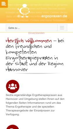 Vorschau der mobilen Webseite www.ergopraxen.de, Praxen für Ergotherapie