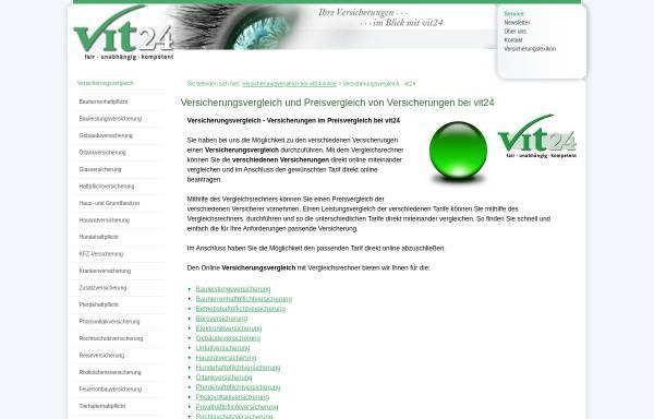 Vorschau von vit24.de, Vit 24 - Versicherungsvergleich, Inh. Mathias Grimm