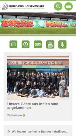 Vorschau der mobilen Webseite www.sophie-scholl-wennigsen.de, Sophie Scholl Gesamtschule