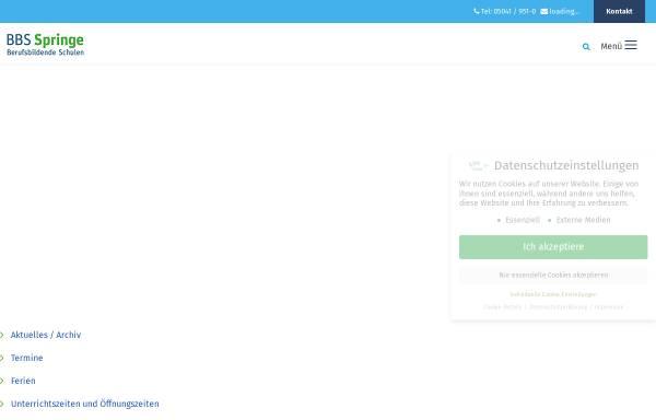 Vorschau von www.bbs-springe.de, Berufsbildende Schulen Springe