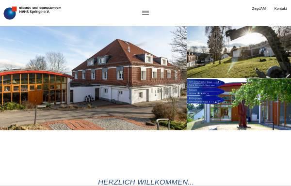 Vorschau von www.hvhs-springe.de, Heimvolkshochschule Springe e.V. - Bildungs- und Tagungszentrum